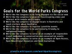 Goals for the World Parks Congress #worldparkscongress