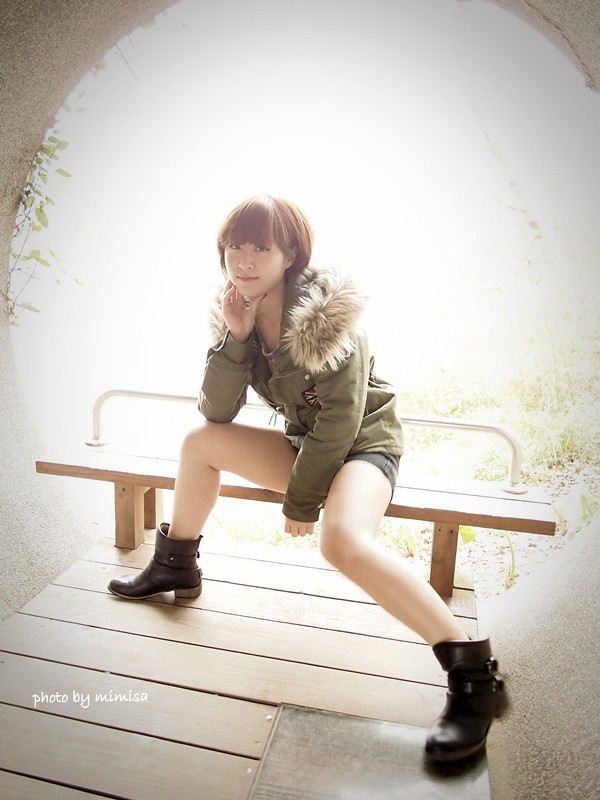 RUBON 軍綠色毛領大衣 (17)