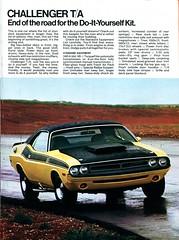 model car(0.0), stock car racing(0.0), automobile(1.0), automotive exterior(1.0), vehicle(1.0), performance car(1.0), automotive design(1.0), dodge challenger(1.0), bumper(1.0), classic car(1.0), land vehicle(1.0), muscle car(1.0),