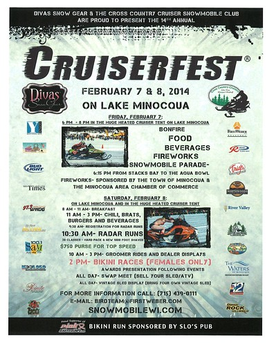 Don't miss all the excitement at Cruiserfest in Minocqua!