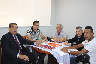 Eufrozino Pereira, secretário adjunto do Trabalho em SP, David Martins, José Gaspar de Campos, Márcio Borges e Paulo Vítor