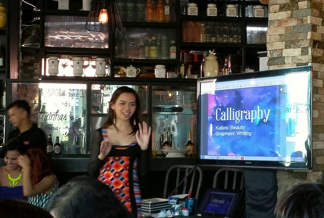 Maybelline Think ink Calligaphy workshop