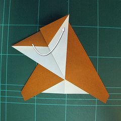วิธีการพับกระดาษเป็นรูปกบ (แบบโคลัมเบี้ยน) (Origami Frog) 020