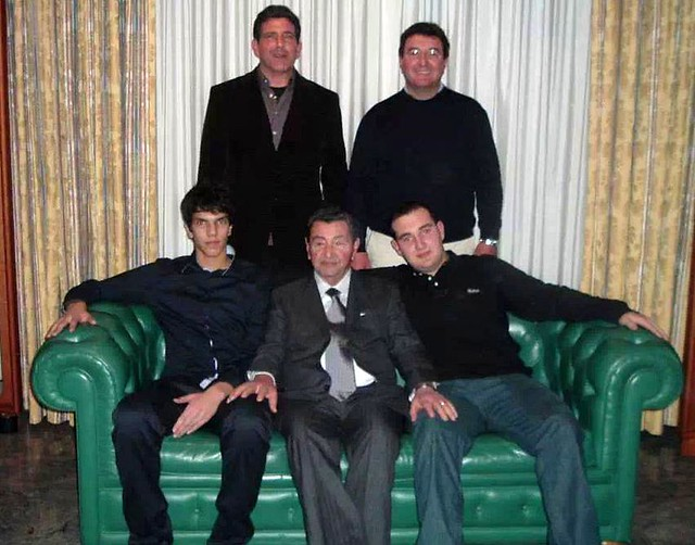 Tommaso e Vincenzo (dietro) i tre Giuseppe Lillo seduti