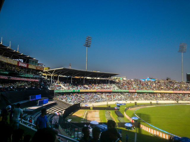A side view of Sher-E-Bangla National Stadium