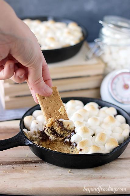 Cookie Dough S'mores Dip | beyondfrosting.com | #cookiedoughweek #smores