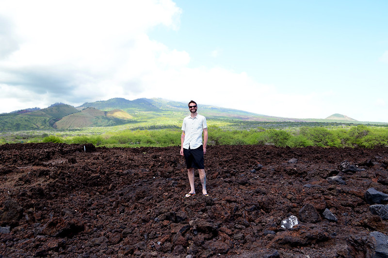 Mike checking out the lava fields