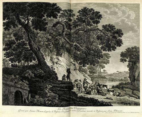 002-El reposo de los viajeros-Oeuvre gravé de Jean Pillement..1767-Vol 1- INHA