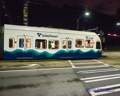 Front End of 3 Car Sunday Night @SoundTransit Train