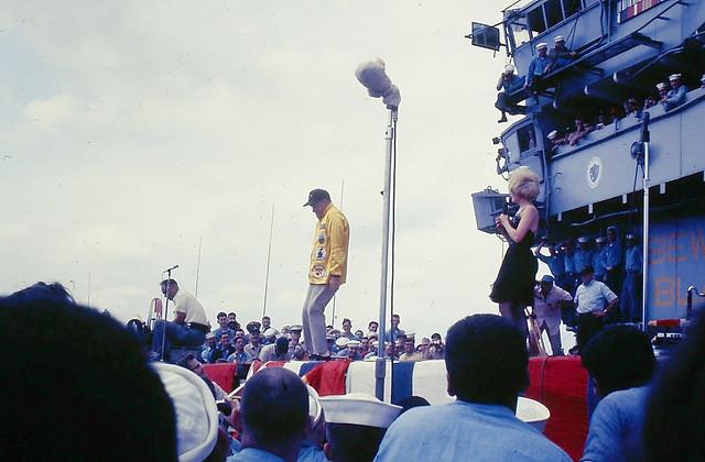 Vietnam War Era - Bob Hope USO Show on USS Bennington