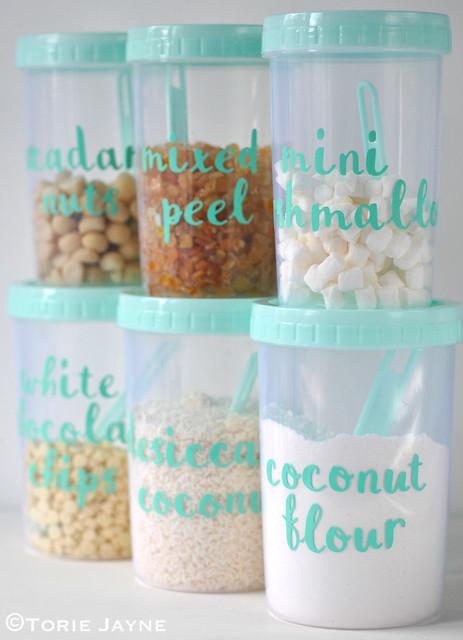 Sizzix Labelled food jars