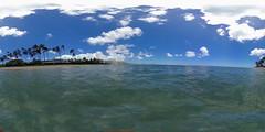 Kahala Beach, Honolulu, O'ahu, Hawai'i - a 360°  Equirectangular VR