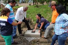 Alcalde de Chone recorrió construcción de obra en la parroquia Chibunga