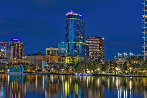 Lake Eola Park, City of Orlando, Orange County,Florida, USA