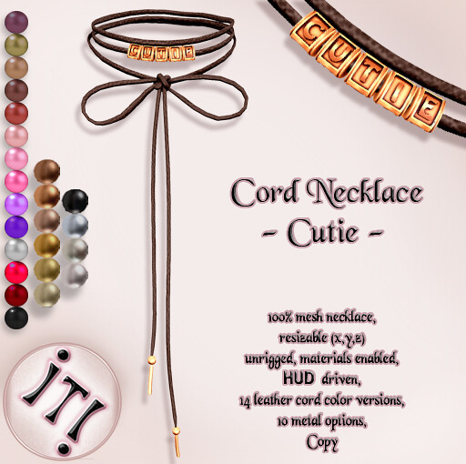 !IT! - Cord Necklace - Cutie Image - SecondLifeHub.com
