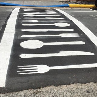 Crosswalks that lead to food are never a bad thing. Ashford Avenue, San Juan, PR . . #crosswalk #sanjuan #sanjuanpuertorico #condado #foodie