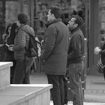 Candid queue in Preston
