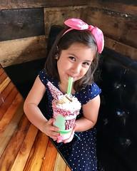 Unicorn Milkshake (modeled by the lovely daughter)