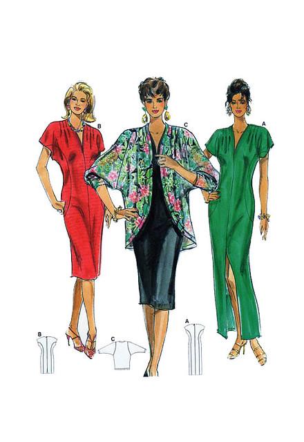 Burda 4117 plus size dresses