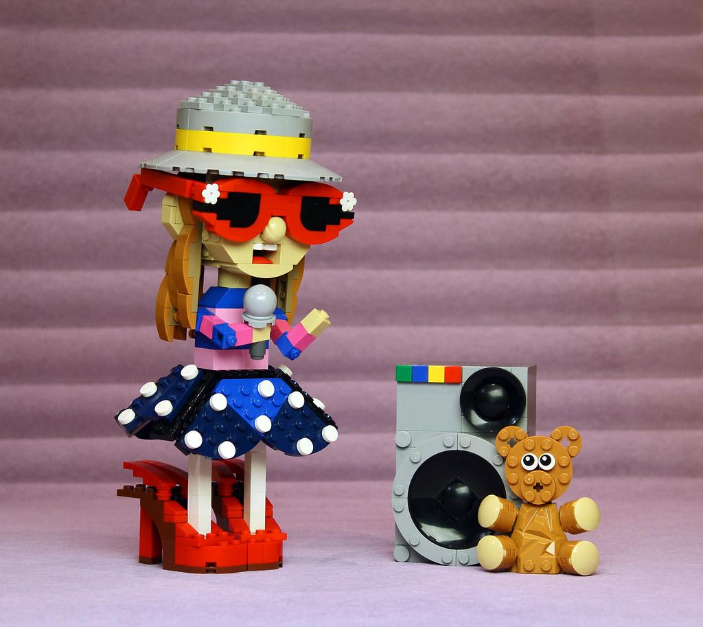 The Girl Who Sings (custom built Lego model)