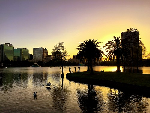 usa us florida orlando evening sunset lake water lakeeola iphone peterch51