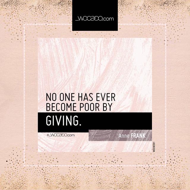 No one has ever become poor by WOCADO.com