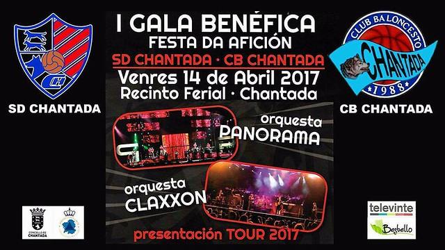 Chantada 2017 - Gala benéfica I Festa da afición - cartel