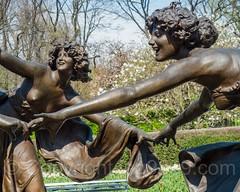 Three Dancing Maidens Sculpture, Untermyer Fountain, Conservatory Garden, Central Park, New York City