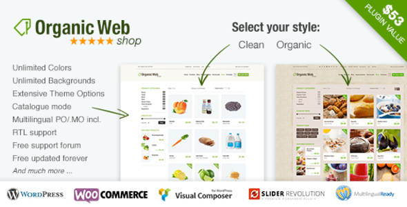 Organic Web Shop v3.1 - An Organic and Responsive WooCommerce Food, Farn and Eco Theme