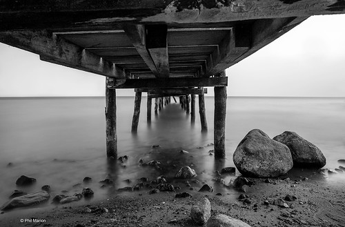Underneath a jetty on Lake Atitlan, Guatemala