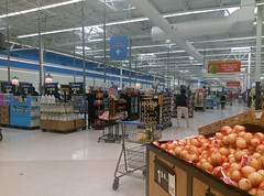 View of the front checklanes