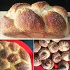 My homemade brioche bread :sparkles: It is one of my most favorite things in the world. This time I have baked three variations of it - plain, with chocolate chips and with Turkish delights. I personally think that the one with the rose flavored Turkish d