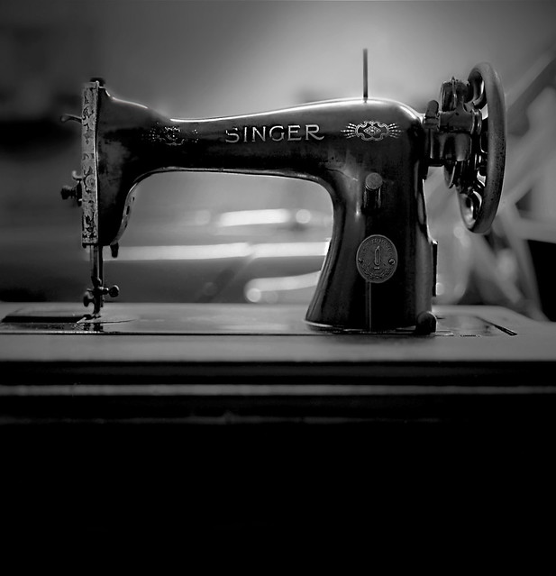 the vintage singer sewing machine