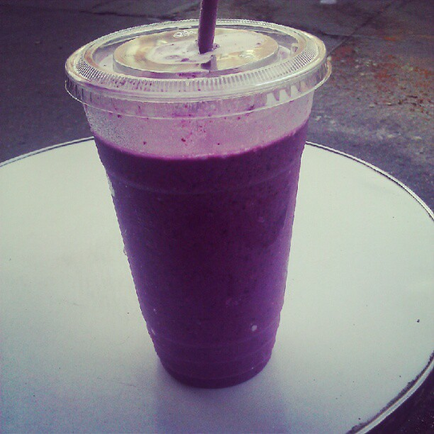 Blueberry coconut ginger smoothie after the workout | Flickr - Photo ...