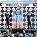 James Jakes, Simon Pagenaud, and Mike Conway on the Podium