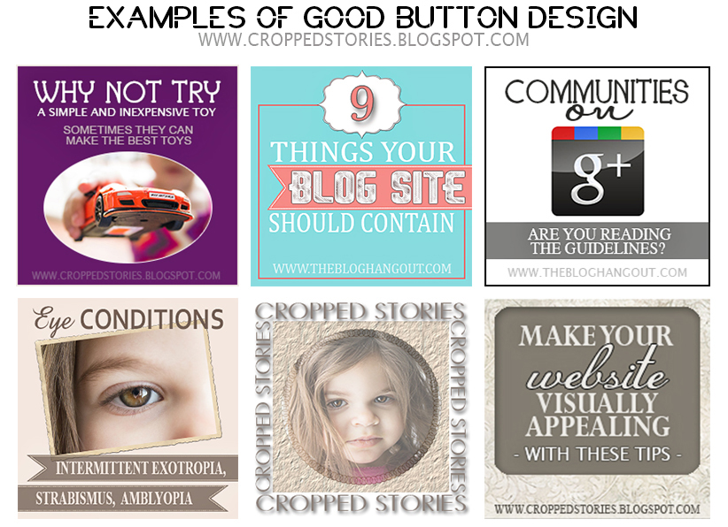 EXAMPLES OF GOOD BUTTON DESIGN