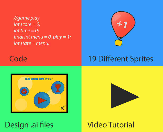 Code Different Sprites Design.ai files play final menu play state Video Tutorial