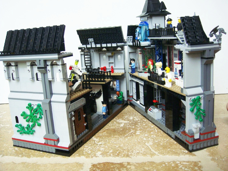 Moc Arkham Asylum Expansion Modular Style Add On Lego Licensed