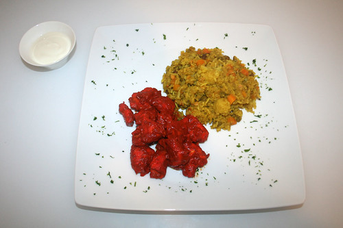 50 - Tandoori Chicken & Biryani - Serviert / Served