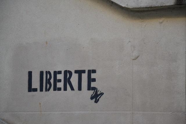 Paris, rue de l'Elysée Ménilmontant - papillon de la Liberté