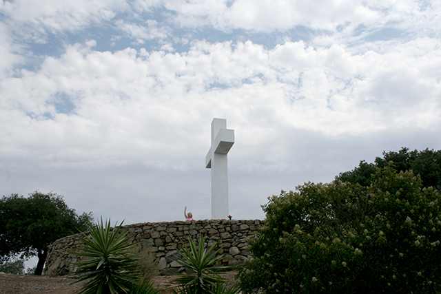cross on the top of Mount Helix