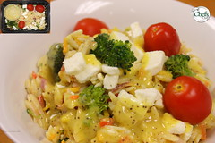 Fresh Garden Orzo Salad Platter with Honey Poppy S…