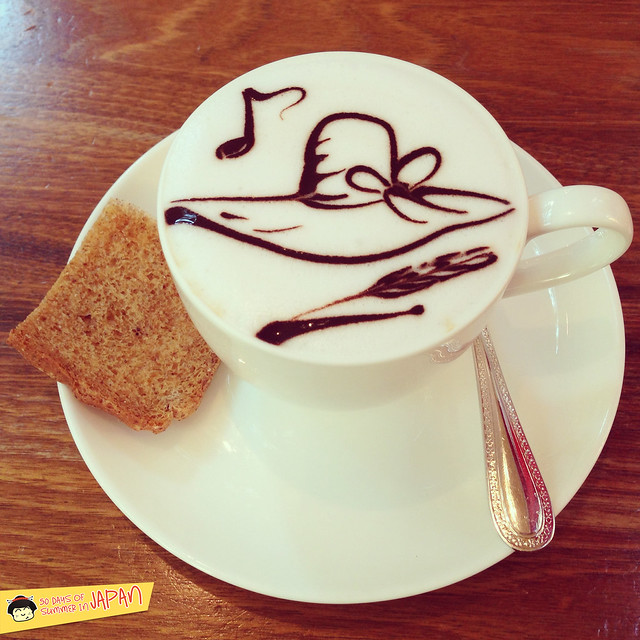 Ghibli Museum Mitaka, Japan - straw hat latte art