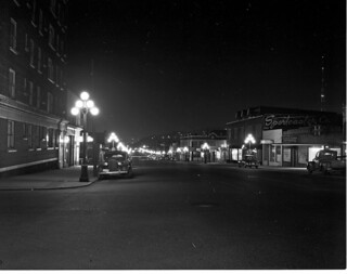 Second Avenue at night, 1951