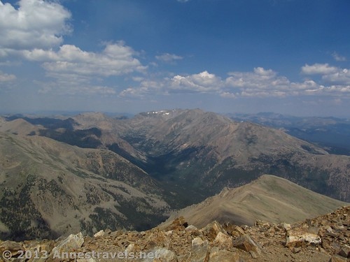 View from the top of Mount Elbert, San Isabel National Forest, Colorado