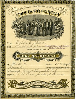 Marriage certificate (front)