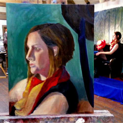 So sad-last night of my still life/figure painting class. But I did finish the portrait. 3rd sitting. Done in March 2013 #art #painting #oilpaint #portrait