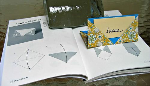 origami name holder