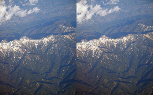 Mount Utsugi, stereo parallel view