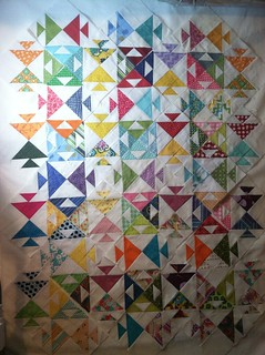 My first on-point quilt.  I clearly did not know what I was doing when I picked this pattern!